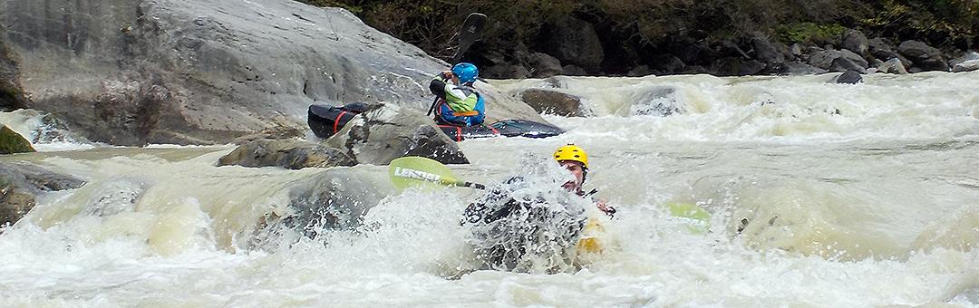 Packraft Schweiz Wildwasser-Kurs