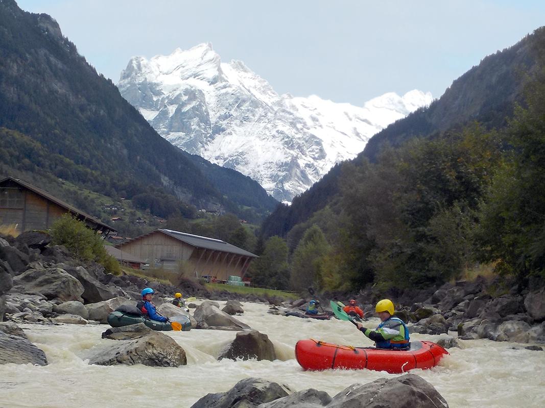 Packraft Test-Wochenenden 2021 mit Packraft Schweiz